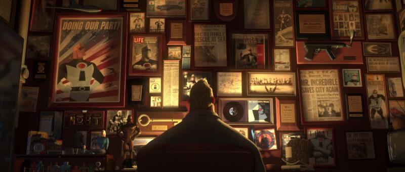 Gli Incredibili: Mr. Incredible in una scena del film