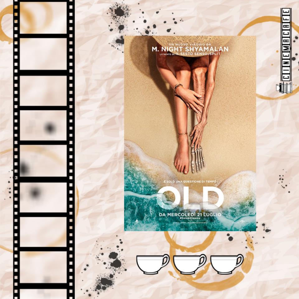 Old: immagine con locandina del film e valutazione espressa in tazzine (tre tazzine su cinque)